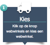 Klik op de knop webwinkels en kies een webwinkel.
